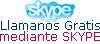 Para llamarnos con Skype  tiene que tener instalado en programa en su Ordenador